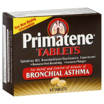 Primatene Ephedrine HCL 60 Tablets For Bronchial Asthma Relief